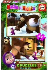 Puzzle 2x20 Masha & Micka Educa 18643