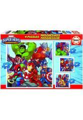 Puzzles Progressifs Marvel Super Heroe Adventures 12-16-20-25 Educa 18647
