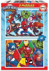 Puzzle 2x20 Marvel Super Hero Adventures Educa 18648