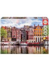 Puzzle 1000 Maisons Dansantes, Amsterdam Educa 18458