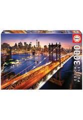 Puzzle 3.000 Manhattan Sonnenuntergang Educa 18508