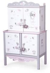 Armadio Fasciatoio per Bambole Reborn Legno Sky DeCuevas 54835