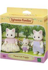 Sylvanian Families Famille Chat Blanc Floral Epoch Para Imaginar 5373