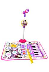 Minnie And You Tapis, Batterie, Pianoet Microphone avec Support Reig 5541