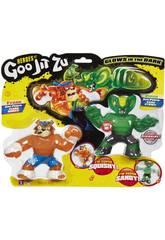 Heroes Of Goo Jit Zu Pack 2 Figurines Tygor Vs Viper Bandai 41017