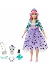 Barbie Princess Adventure avec Animal de Compagnie et Accessoires Mattel GML77