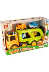Camion Portaveicoli con 4 Aerei, Luce e Suoni