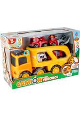 Camion de Transport de Voiture avec 4 Véhicules de Secours, des Lumières et des Sons