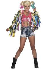 Disfraz Mujer Harley Quinn Birds Of Pray Talla XS Rubies 701811-XS