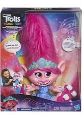 Trolls Muñeca Poppy Melena con Ritmo Hasbro E9459