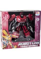 Robot Trasformabile Auto Warrior Rosso