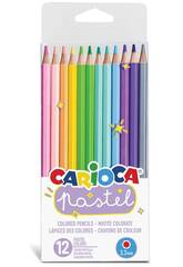 Pack 12 Crayons de Couleur Pastel Pastel Carioca 43034