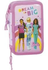 Estojo Duplo 28 Peças Barbie Dreamer Safta 412010854
