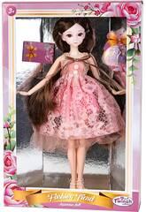 Poupée à La Japonaise 29 cm. Robe Rose avec des Perles