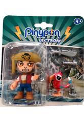 Pinypon Action Figurine Pirate Avec Animal de Compagnie Perroquet Famosa 700015801
