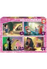 Puzzle Multi 4 Bösewichte Disney Educa 18626