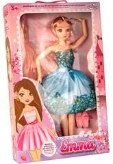 Boneca Emma Manequim Articulada 60 cm. Azul com 2 Vestidos