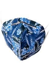 Máscara Estampada Folhas Azul Adulto Kamabu 3