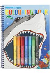 Dino World Libro de Colorear Underwater 7300