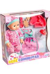Muñeca 30 cm. con Mochila y Accesorios Rosa