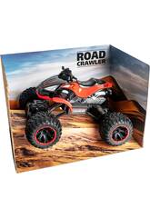 Funksteuerung 1:14 Roter Quad Crawler 7.2 v Batterie