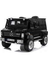 Camion Mercedes Benz Unimog U5000 télécommandé 6 v. Noir