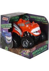 Monster auf Rädern Oranges Reibungsauto