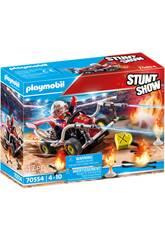 Playmobil Stuntshow Kart Bombero 70554