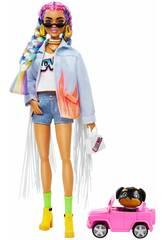 Barbie Extra Farben-Zöpfen Mattel GRN29
