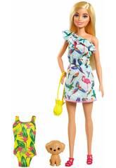 Barbie con valigia e accessori Mattel GRT87