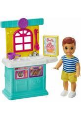 Barbie Skipper Baby-sitter Figurine Bébé avec Accesoires de Cuisine Mattel GRP16