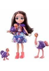 Enchantimals Savane Ensoleillée Famille mini-poupée Ofelia Autruche Mattel GTM32