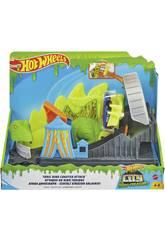 Hot Wheels City vs Toxic Creatures Attaque du Dino Toxique Mattel GTT68