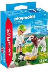 Playmobil Veterinaria con Ternero 70252