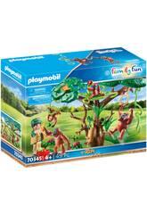 Playmobil Orangs-outans con Arbre 70345