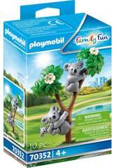 Playmobil Koalas con Bebé 70352