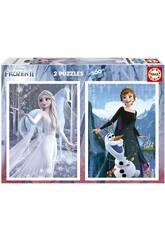 Puzzle 2X500 Frozen II de Educa 19016