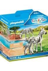 Playmobil Zebras avec bébé 70356