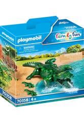Playmobil Cocodrilo con Bebé 70358