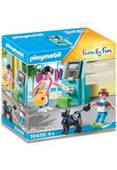 Touristes Playmobil avec caissier 70439
