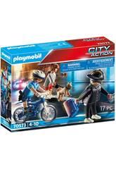 Playmobil Policía Bici Persecución del Carterista 70573