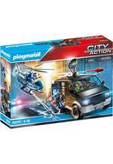 Playmobil City Action Hélicoptère de la Police Poursuite du Véhicule Utilisé Pour Fuir 70575