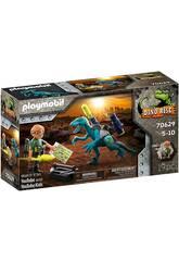 Playmobil Dinos Uncle Rob battaglia armamento 70629