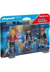 Playmobil City Action Set Figurines Voleurs 70670