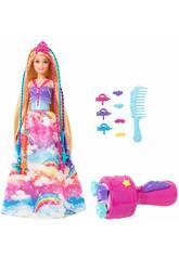 Barbie Princesa Trenzas Mattel GTG00