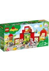 Lego Duplo Town La Grange, Le Tracteur et Les Animaux de la Ferme 10952