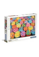 Puzzle 500 Colorful Cupcakes Clementoni 35057