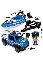 Pinypon Action Pick Up & Lancha de Policía Famosa 700016265