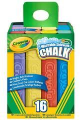 16 Tizas De Suelo Lavables Crayola 4008