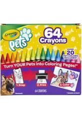 Crayola Pets 64 Ceras 52-1164